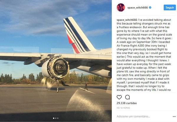 O desabafo de Frances postado no Instagram (Foto: Reprodução/Instagram)