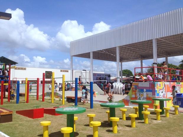 CEU das Artes está localizado no bairro Infraero II, na Zona Norte de Macapá (Foto: Abinoan Santiago/G1)