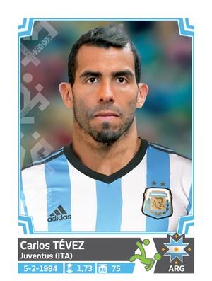 Álbum da Copa América - Tevez Argentina