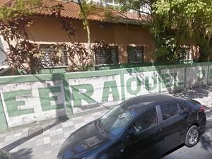 Escola Estadual Professora Raquel de Castro Ferreira em Guarujá (Foto: Reprodução/Google Street View)