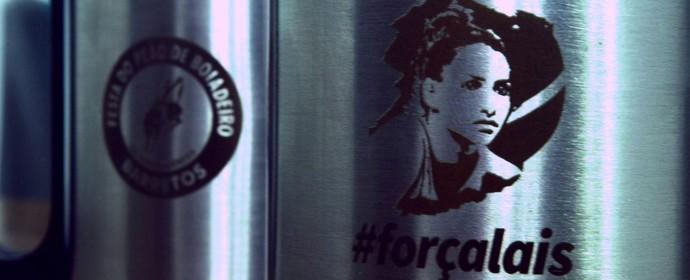 Caneca personalizada da ex-ginasta Lais Souza é vendida a R$ 15 (Foto: Cleber Akamine)