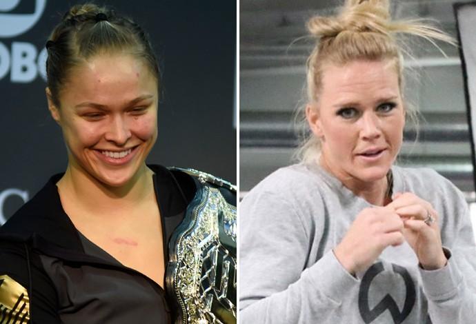 Montagem Ronda Rousey e Holly Holm  (Foto: Globoesporte.com)