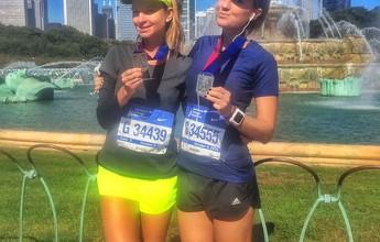 Montanha russa em 42km: a Maratona de Chicago das amigas Jessica e Julia