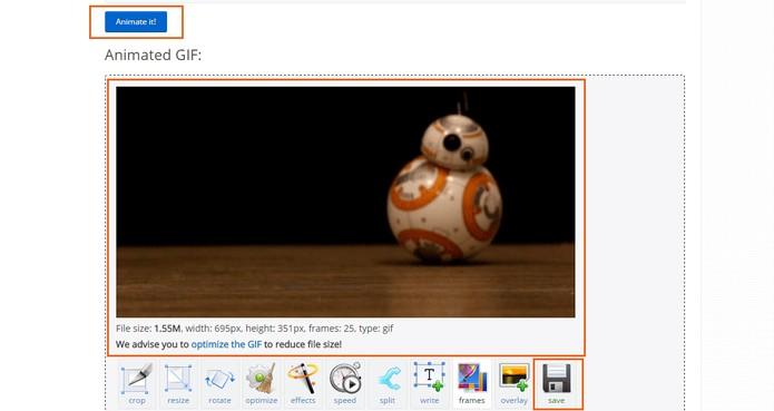 Execute o GIF no site e salve o resultado no computador (Foto: Reprodução/Barbara Mannara)