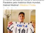 "Tim�o parabeniza Medina pelo in�dito t�tulo: ""Melhor do mundo � corintiano"""