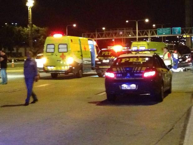 Ponte Rio-Niterói teve tiroteio (Foto: Pedro Conforte / Jornal A Tribuna)