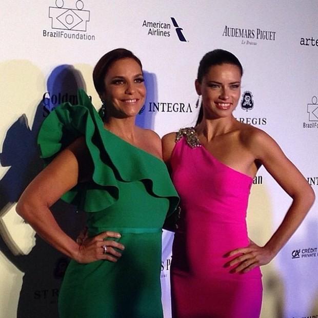 Ivete Sangalo e Adriana Lima (Foto: Reprodução/Instagram)