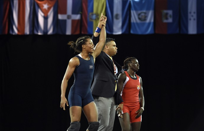 Joice Souza ouro luta olímpica Brasil Pan-Americano (Foto: Eric Bolte/Reuters)