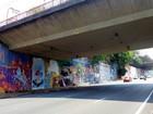 Muro em SP recebe pinturas em ação patrocinada após cobertura de grafite