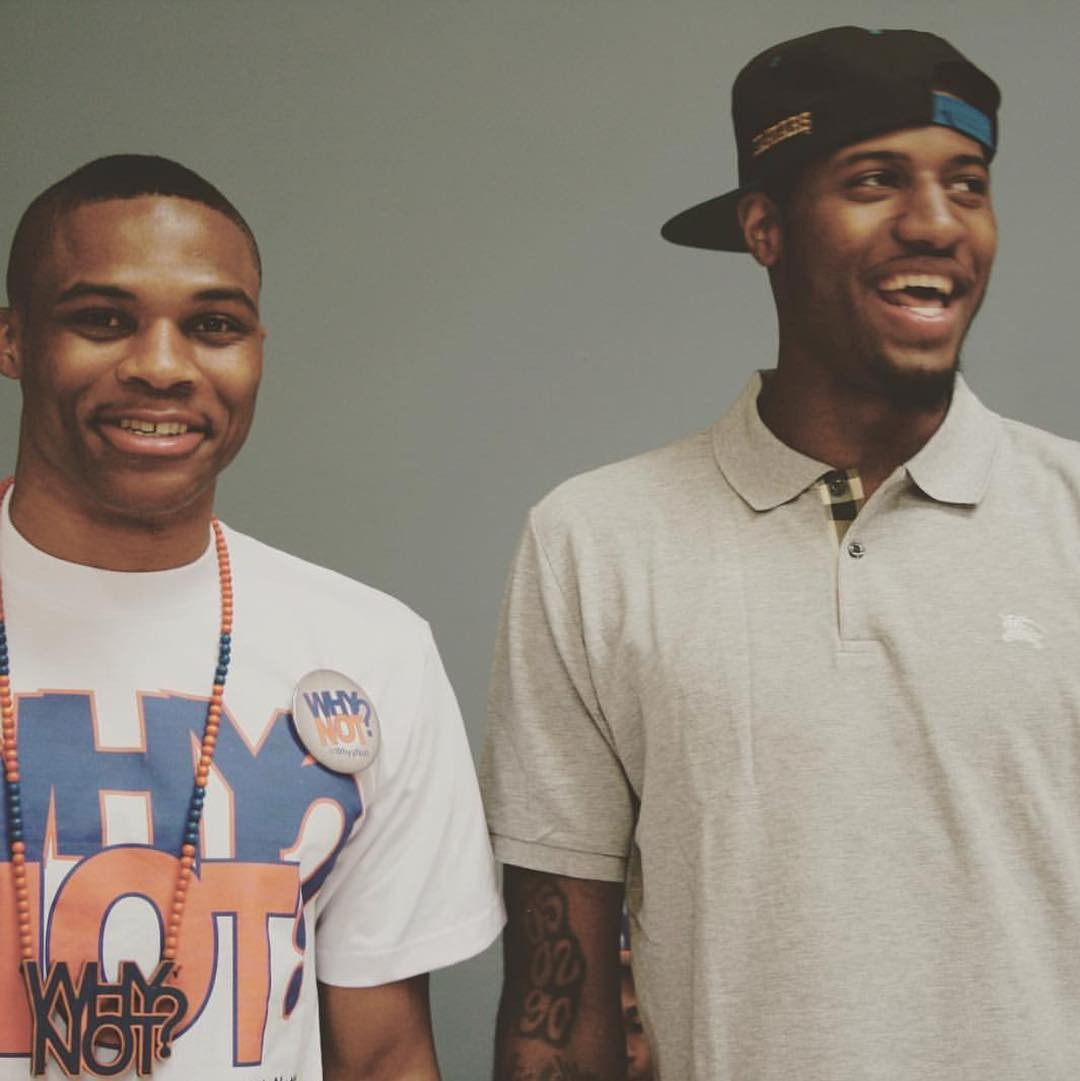 Russell Westbrook e Paul George, companheiros de time e de estilo (Foto: Reprodução/Instagram)