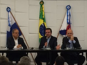 Prefeito do Rio, Eduardo Paes, deu detalhes sobre implantação do BRT Transcarioca (Foto: Daniel Silveira/G1)