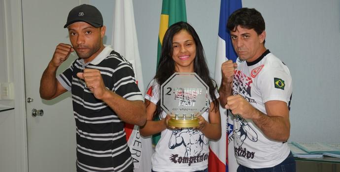 Natália Silva, venceu o 2º Combat Night Fight na modalidade Palha  (Foto: Assessoria da Prefeitura de Timóteo )