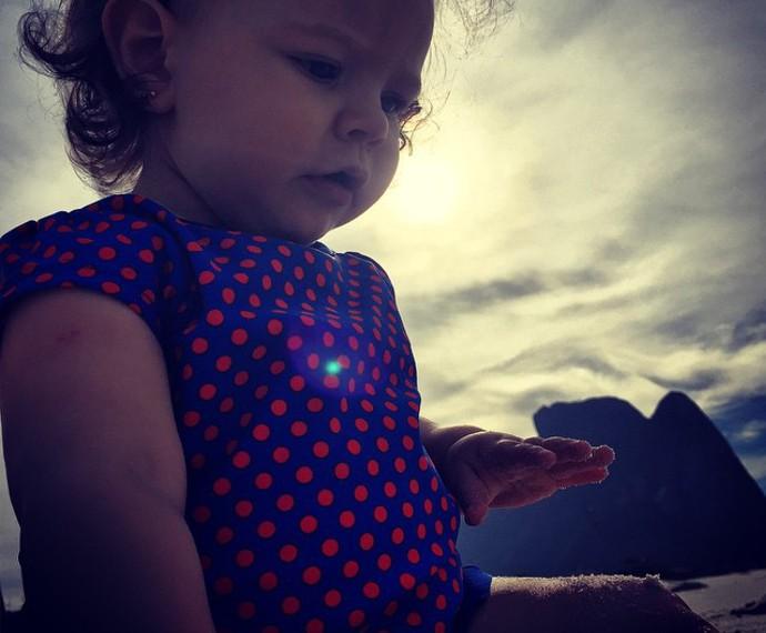 A pequena Aurora tem apenas 11 meses e é uma fofura! (Foto: Arquivo Pessoal)