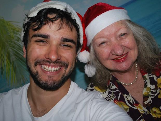 Dona Nilva foi internada alguns dias antes do Natal de 2013 (Foto: Fernando Aguzzoli/Arquivo pessoal)