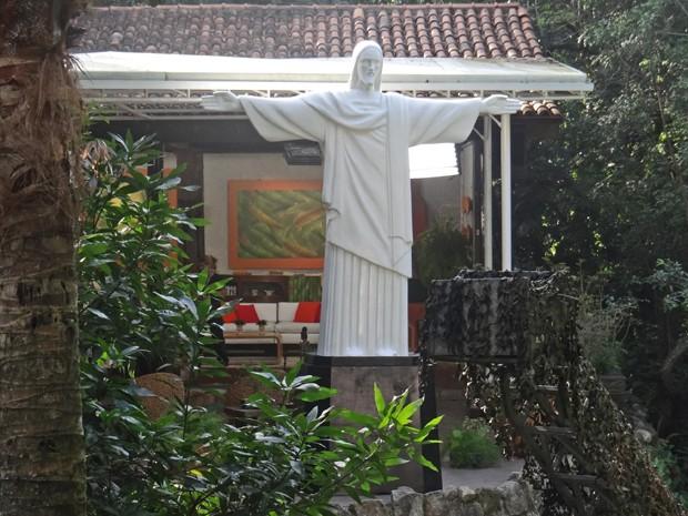 Réplica do Cristo Redentor (Foto: Mais Você / TV Globo)
