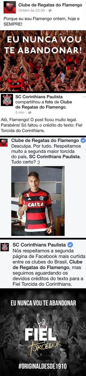 Montagem Flamengo e Corinthians (Foto: Globoesporte.com)