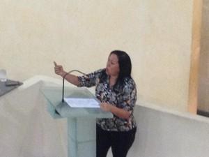 Deputada Roseli Matos (DEM) criticou atuação do MP (Foto: Abinoan Santiago/G1)