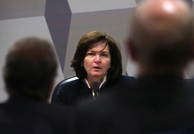 Subprocuradora Raquel Dodge durante sabatina em comissão do Senado, em Brasília: ele vai substituir Rodrigo Janot na PGR (Foto: Adriano Machado/Reuters)