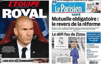 BLOG: Jornal francês dedica capa inteiramente a Zidane, após anúncio do Real