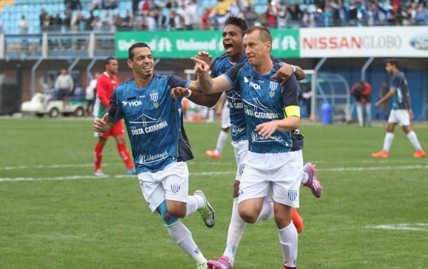 Marquinhos gol Avaí Boa Esporte (Foto: Jamira Furlani / Avaí FC)