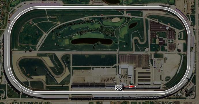 Circuito oval de Indianápolis, traçado usado pela F1 de 1950 a 1960 (Foto: F1stats)