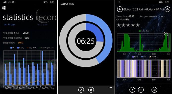 SleepWin é um aplicativo para Windows Phone que mede a qualidade do sono do usuário (Foto: Divulgação/Windows Phone Store)