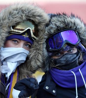 Torcedor frio Seattle Seahawks x Minnesota Vikings - playoffs nfl (Foto: Reuters)