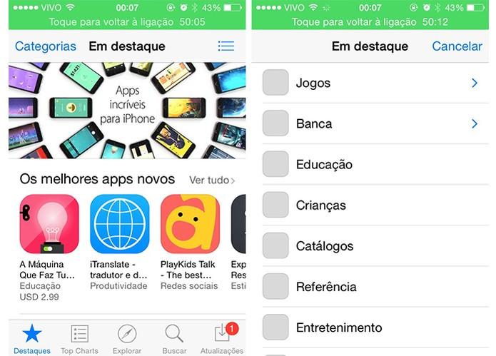 App Store da Apple oferece mais de um milhão de apps (Foto: Reprodução/Barbara Mannara)