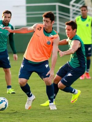 Felipe Menezes treina para jogo do Verdão (Foto: Rosiron Rodrigues / Goiás E.C.)