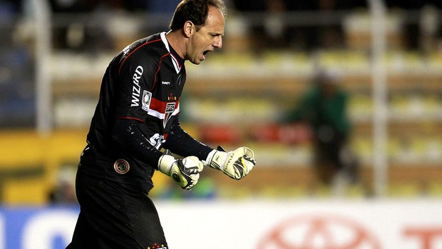 Rogerio Ceni gol São Paulo The Strongest (Foto: AP)