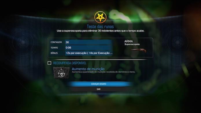 Doom: vasculhe os mapas da campanha para localizar os Testes das Runas (Foto: Reprodução.Victor Teixeira)