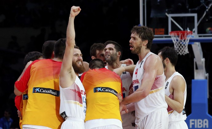 França x Espanha Europeu de basquete semifinal (Foto: Reuters)
