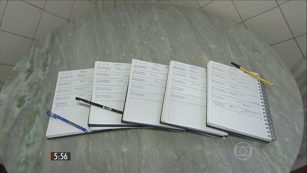 Pais usam agendas para se organizarem (Foto: Reprodução/TV Tribuna)