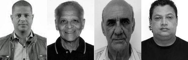 Mareclinho Carioca, Ademir da Guia, Waldir Peres e Tonhão não se elegeram vereador em SP (Foto: Reprodução/TSE)