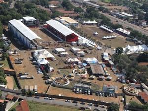 Vista aérea do recinto de exposições da Eapic em São João da Boa Vista (Foto: Fernandinho Souza/ Divulgação Eapic)
