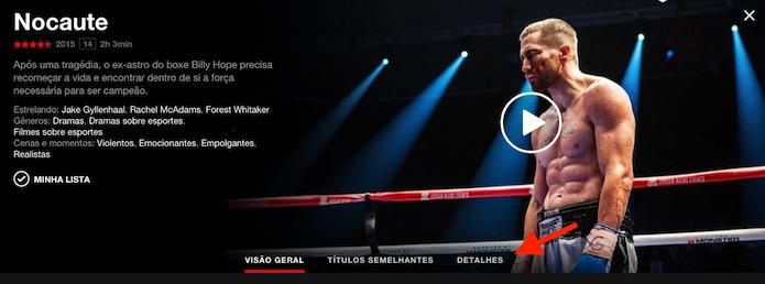 Acessando detalhes extras sobre um título do Netflix (Foto: Reprodução/Marvin Costa)