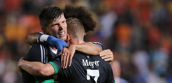 Klaas-Jan Huntelaar Schalke x APOEL (Foto: AFP)