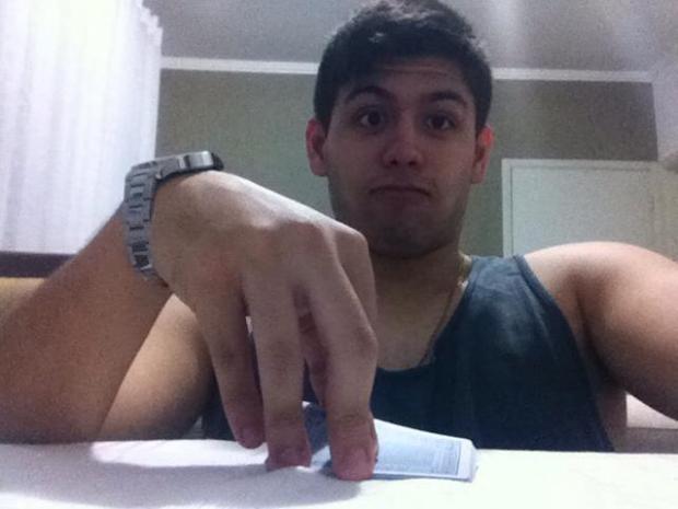 Matheus Demétrio Soares foi baleado e morreu em Santos, SP (Foto: Matheus Demétrio Soares / Arquivo Pessoal)