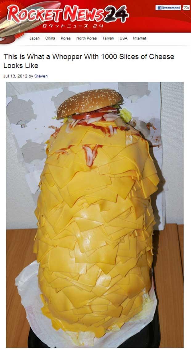 """Japonês """"Mr. Sato"""" encomendou o sanduíche com mil fatias de bacon (Foto: Reprodução)"""