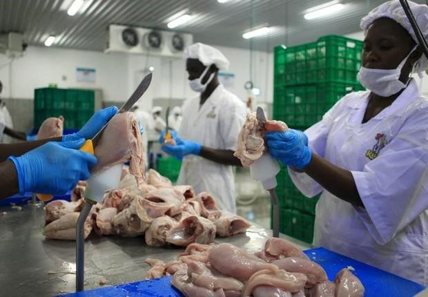 BRF- frango - exportação - venda de frango - indústria  (Foto: REUTERS/James Akena)
