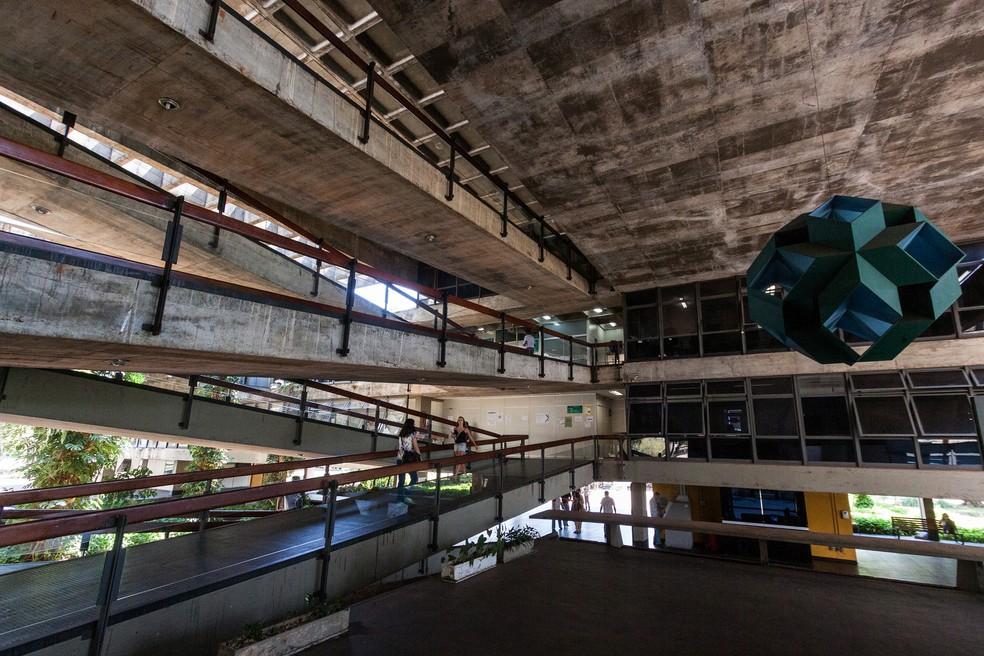 Prédio da reitoria da Universidade de Brasília (Foto: Edu Lauton/Secom UnB)