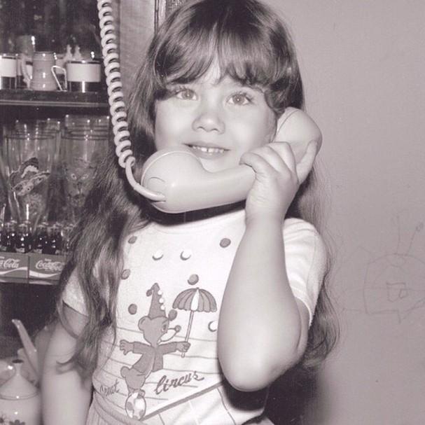 Ellen Rocche na infância (Foto: Reprodução/Instagram)