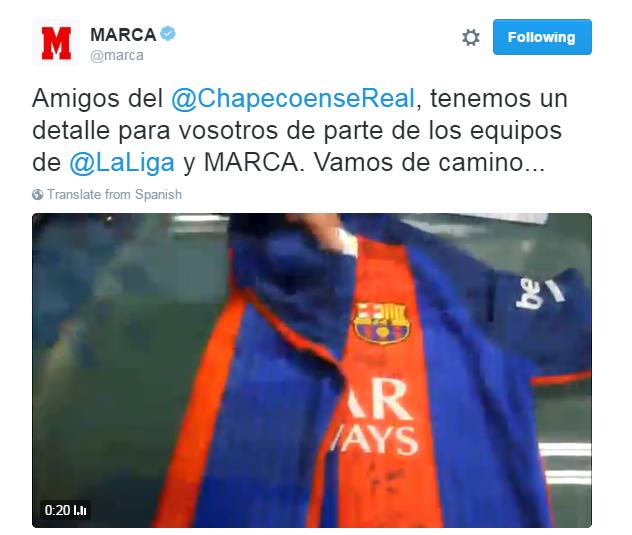 Supresa Marca times para a Chapecoense