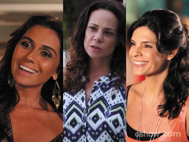 O nude invadiu o make das personagens de Em Família (Foto: Em Familia/TVGlobo)