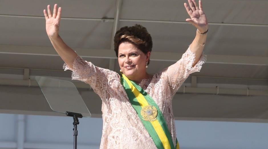 A presidente do Brasil, Dilma Rousseff, no dia da posse do segundo mandato (Foto: Agência O Globo)