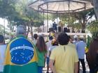 Manifestantes protestam contra o governo de Dilma em Campos, no RJ