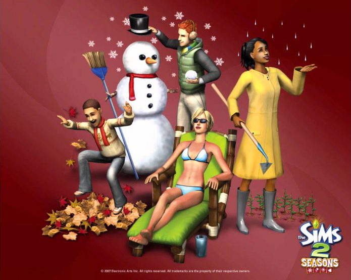 The Sims 2: 4 Estações tem apenas um cheat disponível (Foto: Divulgação/EA)