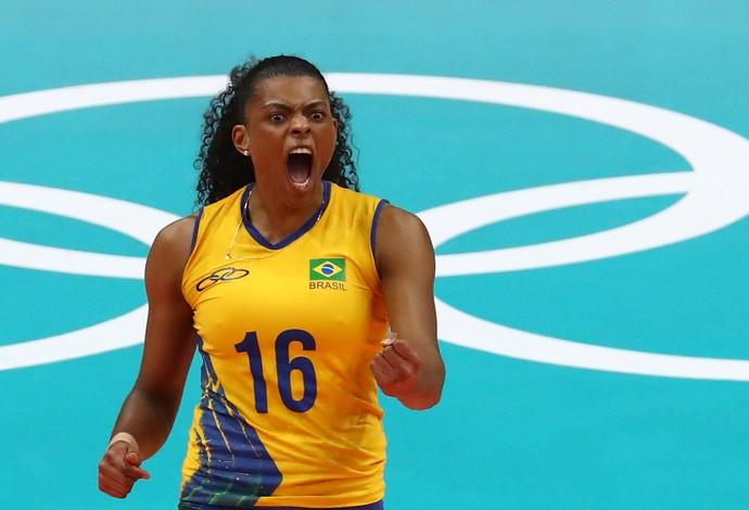 Fernanda Garay, Brasil x China, vôlei, Olimpíada (Foto: REUTERS/Yves Herman)