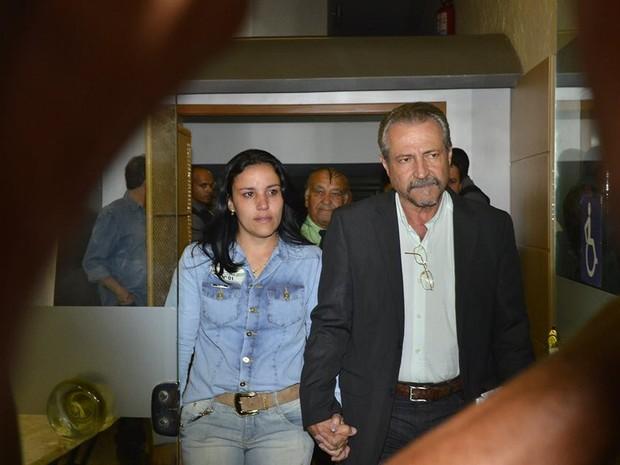 Ferreira na saída de julgamento, após condenação (Foto: Guilherme Ferrari/ A Gazeta)