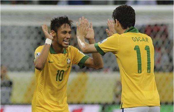 Neymar e Oscar (Foto: Reprodução/Instagram)